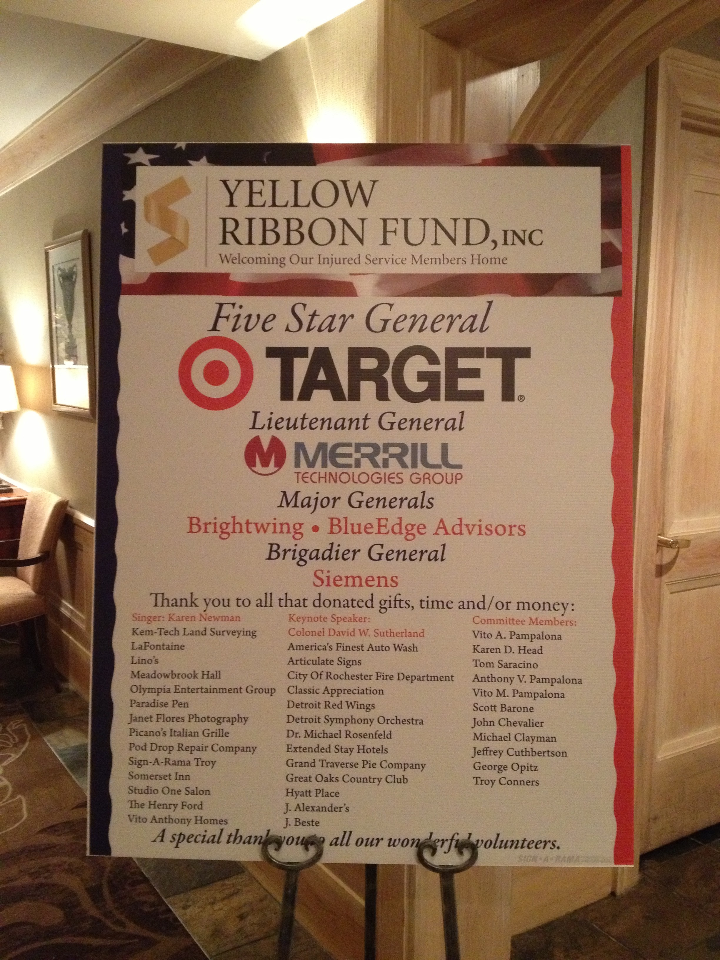 Signarama Troy supports the Yellow Ribbon Fund!