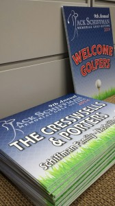 Coroplast signs for charity golf event!