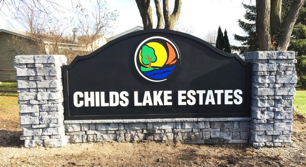 Childs Lake Monument Sign
