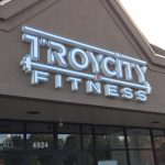 building sign for troy city fitness