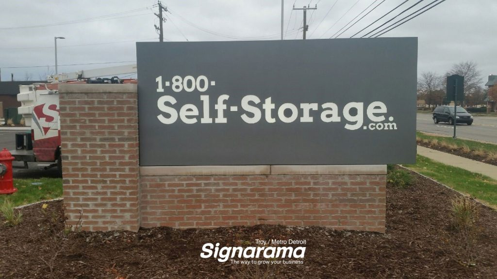 Self Storage monumental sign