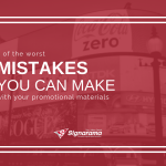 "Featured image for ""5 Of The Worst Mistakes You Can Make With Your Promotional Materials"" blog post"