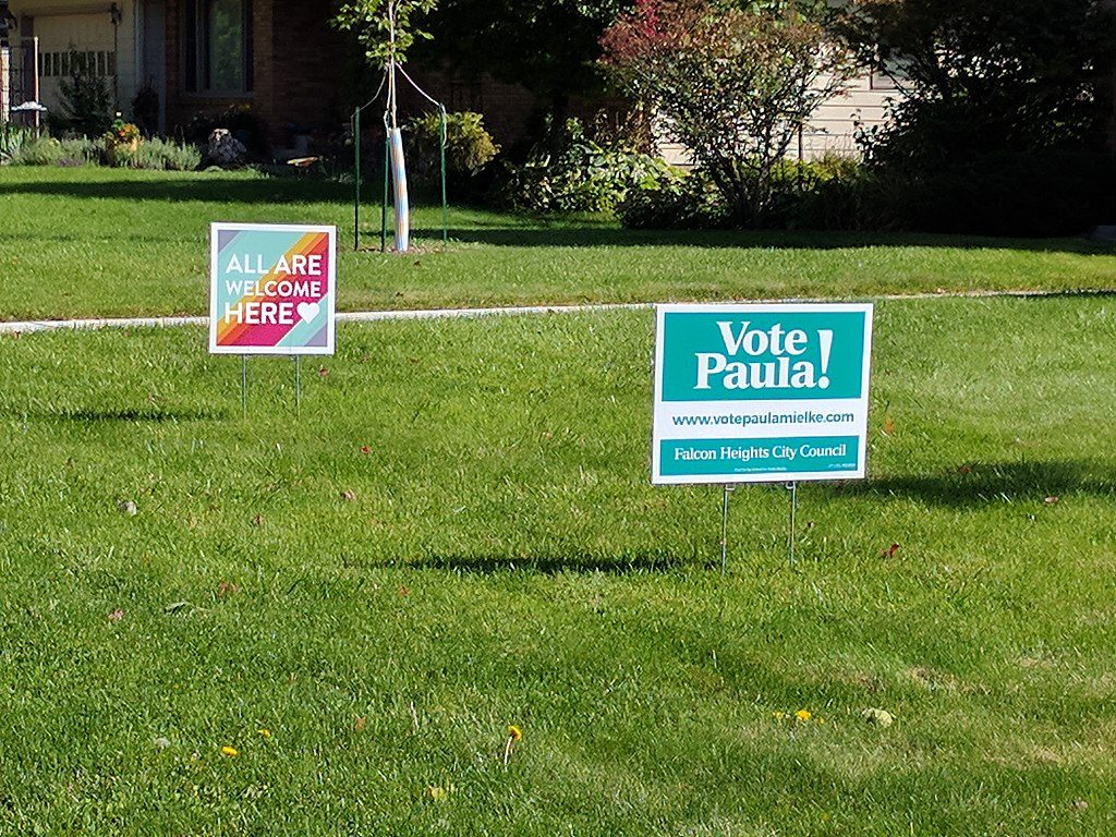 Sample yard signs