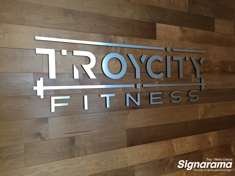 Fitness lobby sign