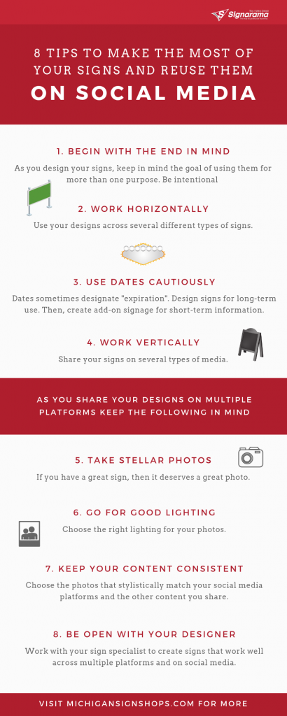 infographic for reusing signs on social media