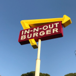In N Out Burger pylon sign