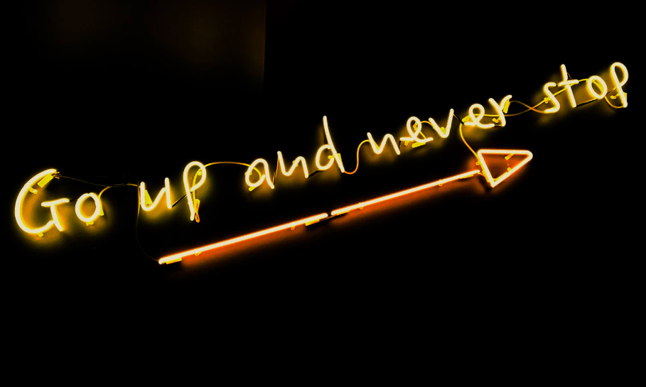 Neon motivational sign