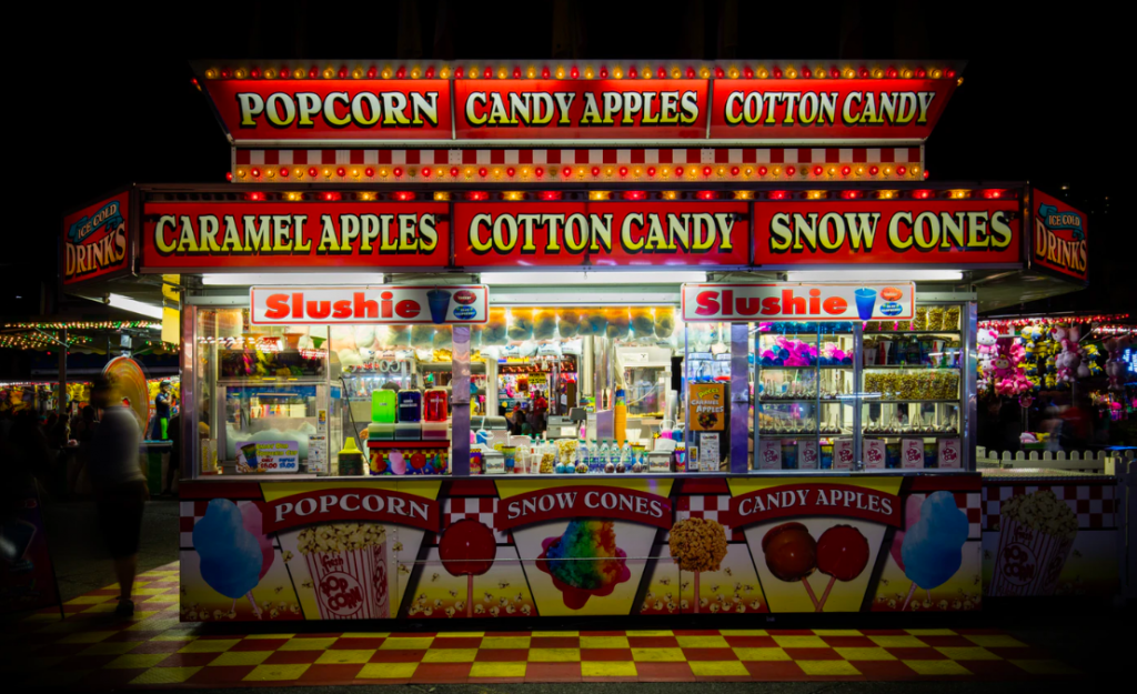 Snack store at a carnival