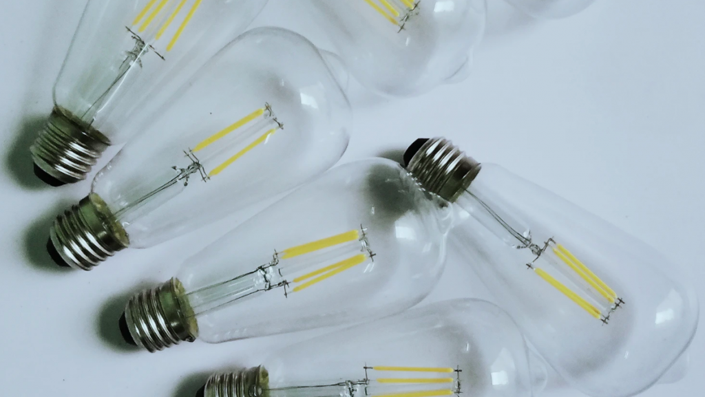 Clear lightbulbs
