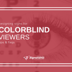 "Featured image for ""Designing Signs For Colorblind Viewers: Tips & FAQs"" blog post"