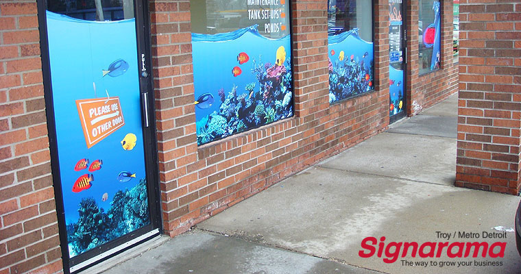 Business window graphic