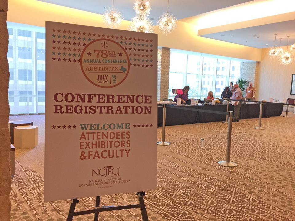 Conference registration signage