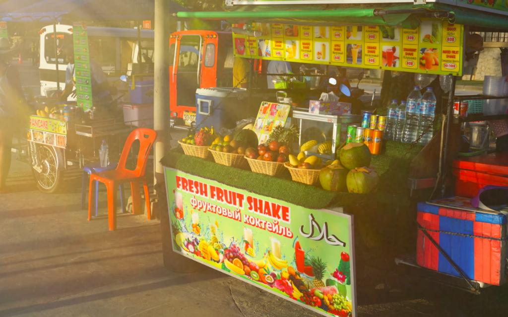 Fruit stall banner