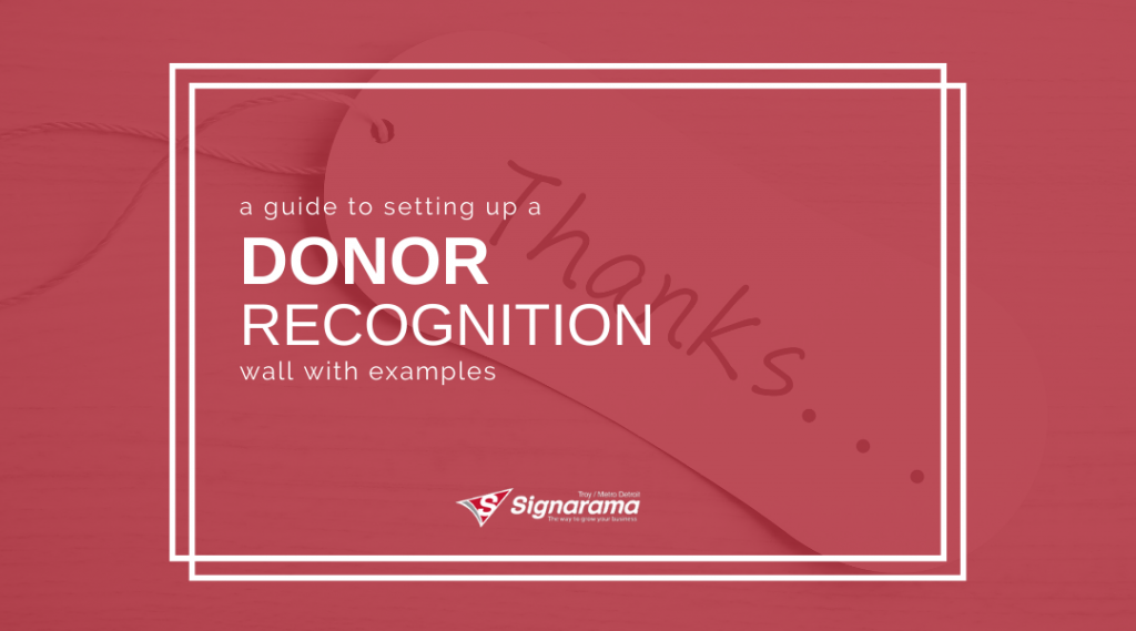 """Featured image for """"A Guide To Setting Up A Donor Recognition Wall With Examples"""" blog post"""
