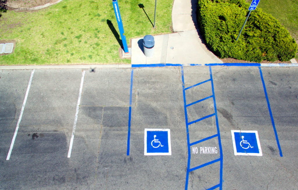 Accessible parking signs
