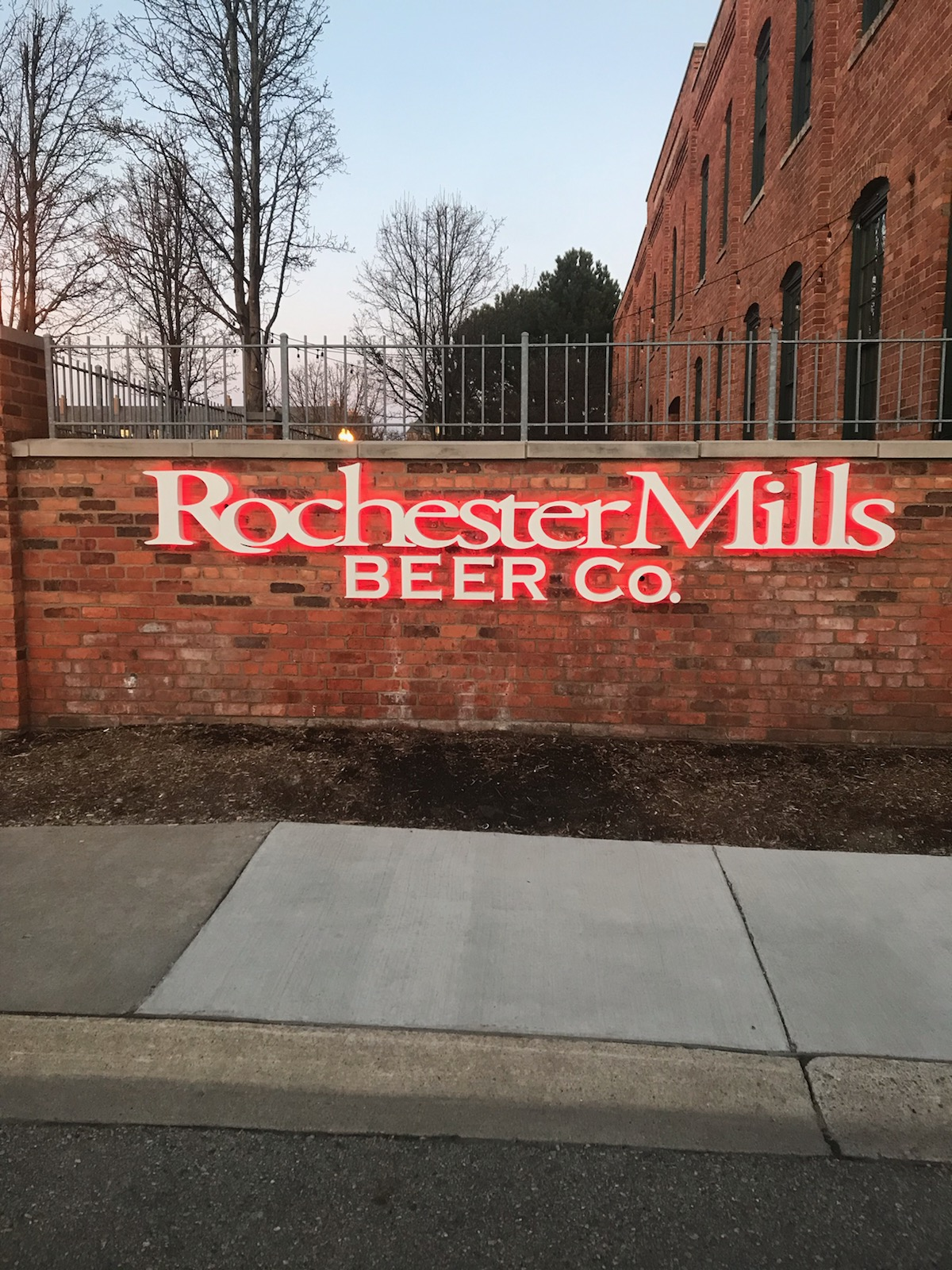Rochester Mills Sign - Lit Channel Letters Front - Rochester Hills, MI