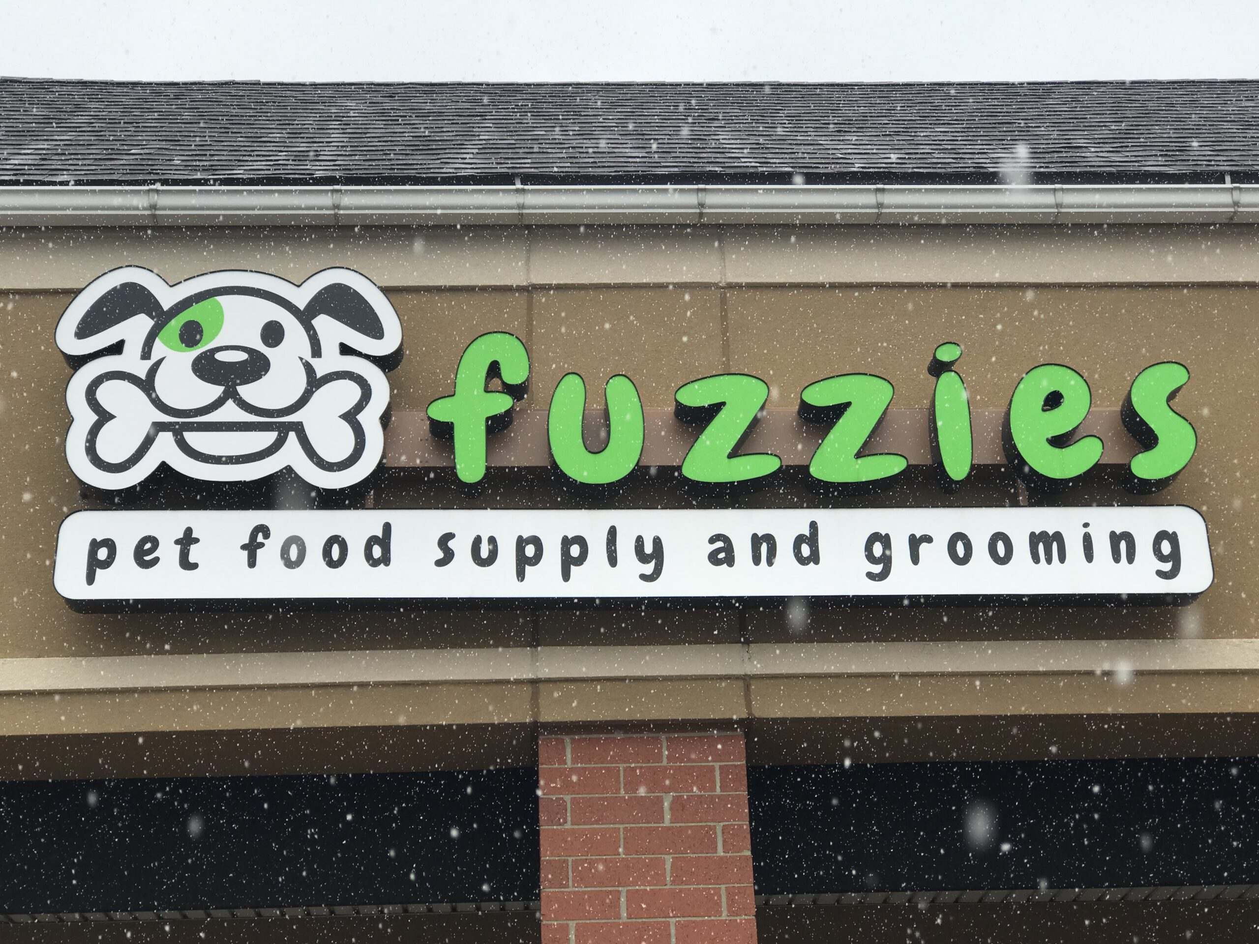 Fuzzies Pet Food Supply and Grooming Sign - Channel Letters Front - Clarkston, MI