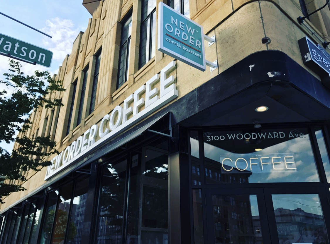 New Order Coffee Sign - Blade Sign and Dimensional Lower - Detroit, MI