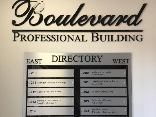 AF Jonna Sign - Directory Wayfinding Signage Front - Rochester Hills, MI