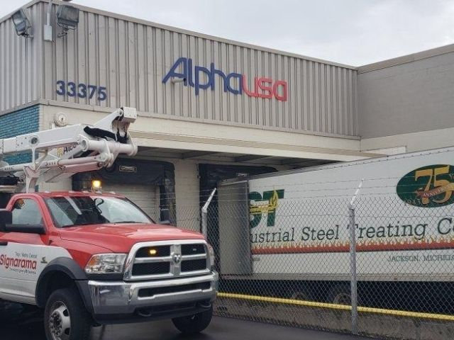 Alpha USA Sign - Wall Sign Front - Livonia, MI