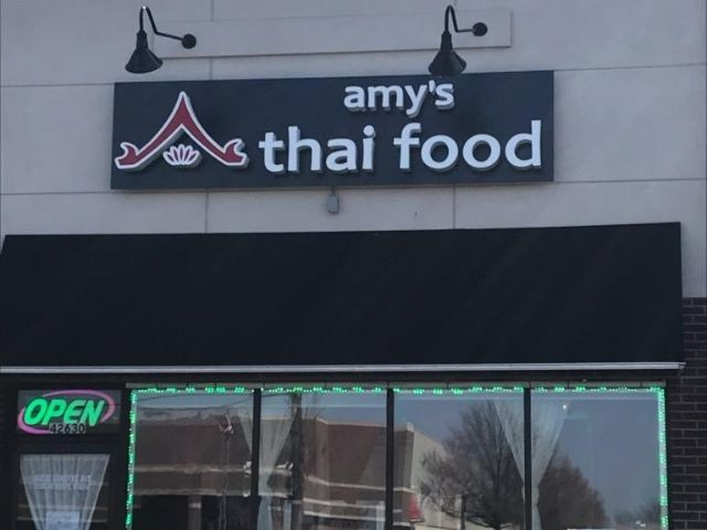 Amy's Thai Food Sign - Channel Letters Front - Sterling Heights, MI