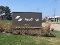 App Smart Sign - Monument Cabinet, Front - Clawson, MI