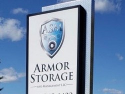 Armor Storage Sign - Monument Pylon Sign Front Right - Coldwater, MI