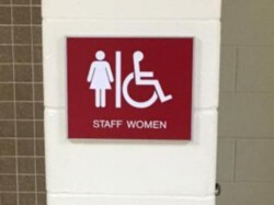 Barton Malow Roseville High School - ADA and Wayfinding Signs - Bathroom Sign - Roseville, MI