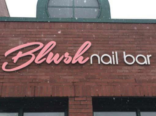 Blush Nail Bar Sign - Channel Letter Building Exterior - Troy, MI