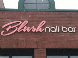 Blush Nail Bar Sign - Channel Letter Building Exterior - Troy, MI