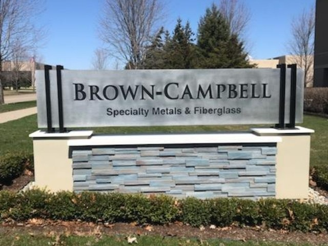 Brown-Campbell Sign - Monument and Cabinet Sign Front On - Shelby Township, MI