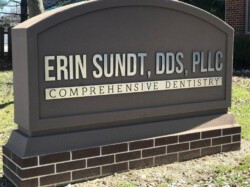 Comprehensive Dentistry Sign - Monument cabinet sign Left angle - Waterford, MI