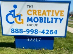 Creative Mobility Group Sign - Monument Street View - Madison Heights, MI