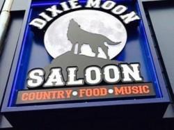 Dixie Moon Saloon Sign - Neon Entrance Building Sign Front View - Royal Oak, MI