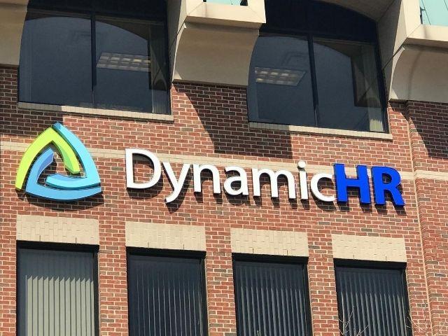 Dynamic HR Sign - Front Lit Channel Letters Front Left - Auburn Hills, MI