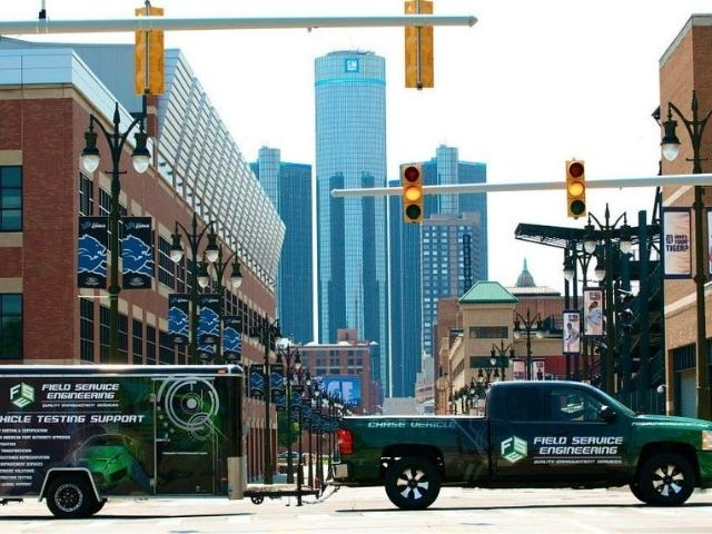 Field Service Engineering Wrap - Vehicle and Trailer Wrap Front Right Full - Troy, MI