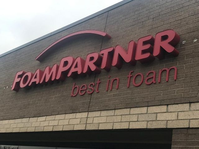 Foam Partners Sign - Channel Letters Front Right - Rochester Hills, MI