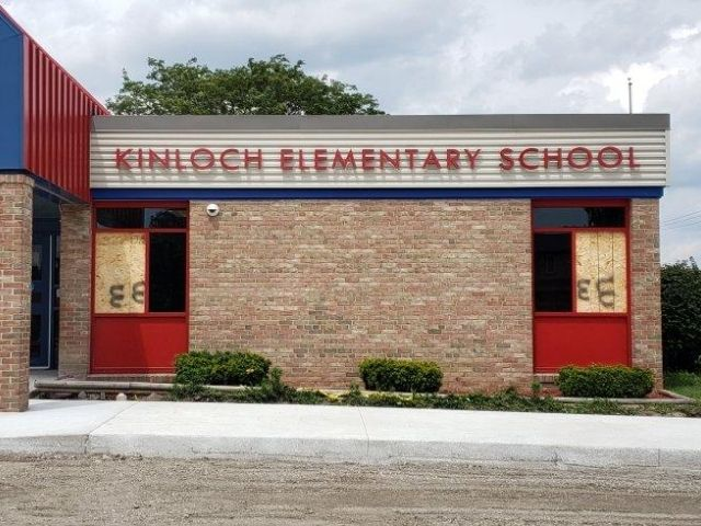 George W. Auch - Kinloch Elementary Sign - Dimensional Letters Front - Dearborn Heights, MI