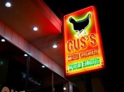 Gus's Fried Chicken Sign - Neon Left side - Royal Oak, MI