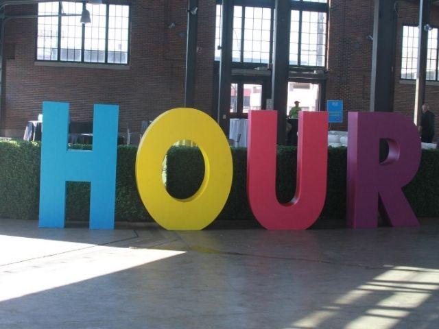 Hour Media Sign - 3D Foam Letters Front - Detroit, MI