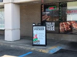 Jet's Pizza Sign - A Frame Front of shop close - Sterling Heights, MI