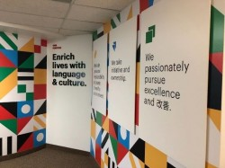 Magno Languages Mural - Wall Wrap Side View - Farmington Hills, MI