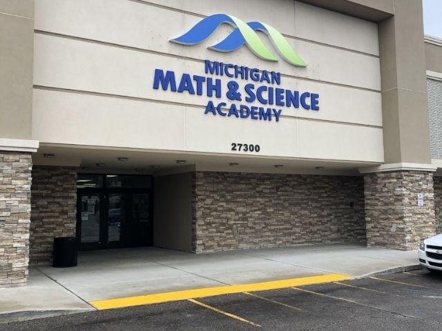 Michigan Math and Science Acadamy Sign - Wall Sign - Warren, MI