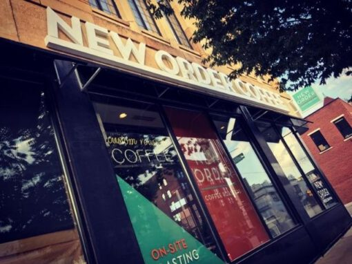 New Order Coffee Sign, Franchise Branding Looking Up - Royal Oak, MI