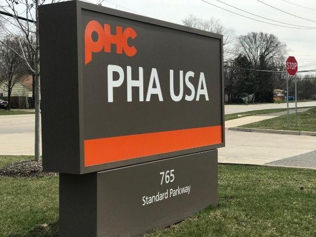 PHA USA Sign - Monument - Auburn Hills, MI