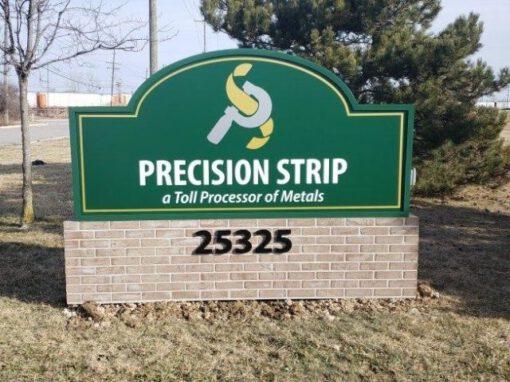 Precision Strip Sign - Monument cabinet Front - Trenton, MI