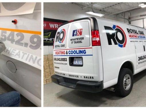 Royal Oak Heating & Cooling Wrap - Vehicle Wraps Back View - Troy, MI