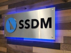 SSDM Sign - Lobby Sign Front Right View - Troy, MI