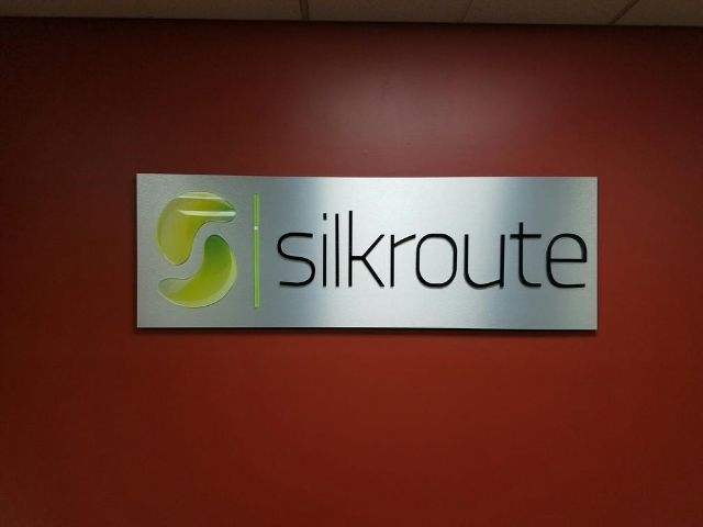 Silkroute Sign - Lobby Sign Close Up - Troy, MI