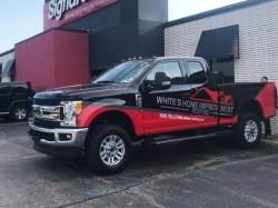 White's Home Improvement Wrap - Vehicle Wrap, Front Left - Troy, MI